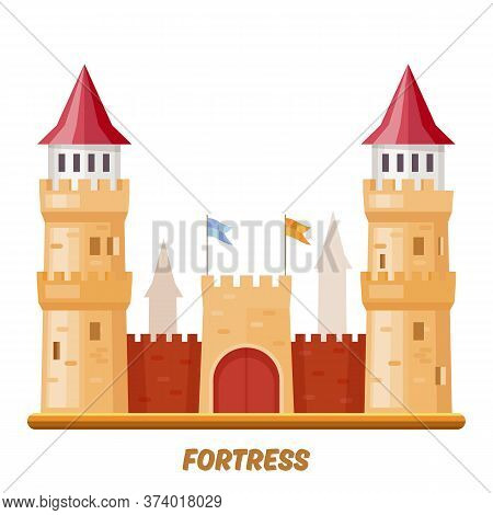 Fortress Castle, Medieval Palace With Fort Towers