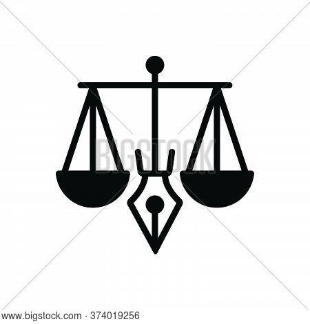 Black Solid Icon For Legitimacy Legality Justice Balance Judgment Punishment