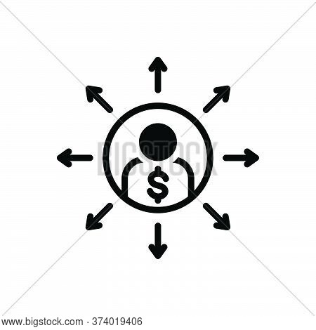 Black Solid Icon For Liabilities Responsibility Person Loan Debt