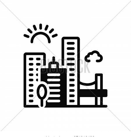 Black Solid Icon For Jacksonville Skyline Cityscape Downtown Buildings Architecture