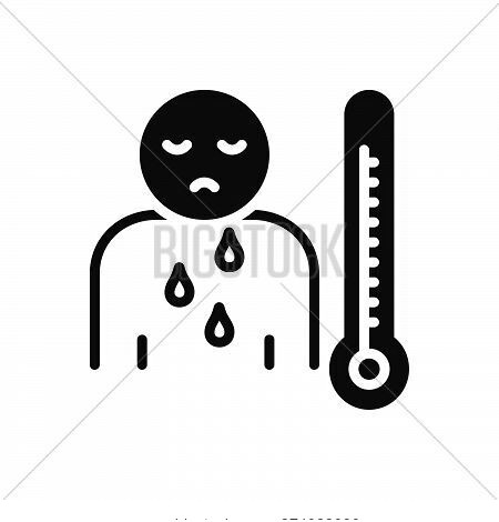 Black Solid Icon For Malaise Illness Sickness Ailment Malady