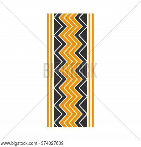 Track Marks Black And Yellow Rgb Color Icon. Detailed Automobile, Motorcycle Street Tyre Traces. Zig