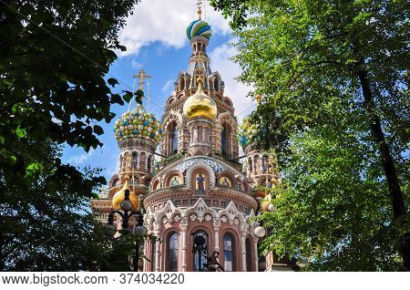 Church Of The Savior On Spilled Blood, Saint Petersburg, Russia