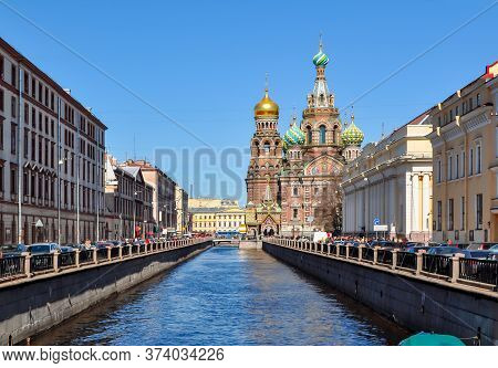 Church Of The Savior On Spilled Blood On Griboedov Canal, Saint Petersburg, Russia