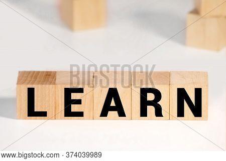 Home Made Blocks Spell Learn. Concept Shool