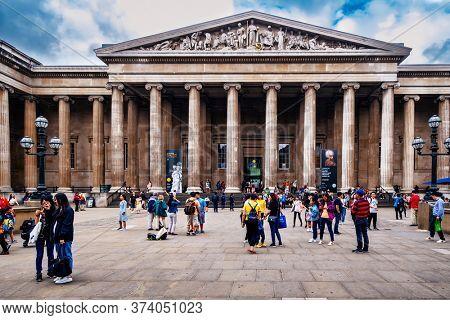 LONDON,UK - JULY 31,2019 :  The British Museum in London