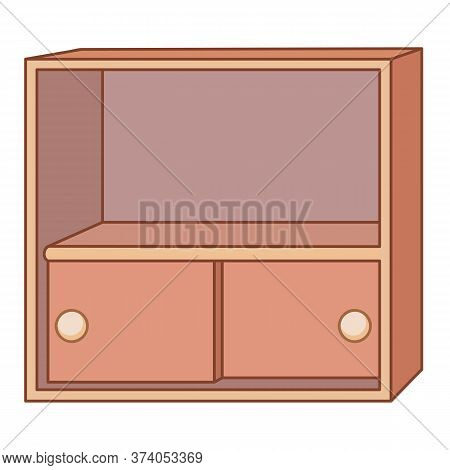 Cabinet Isolated Illustration On White Background. Vector