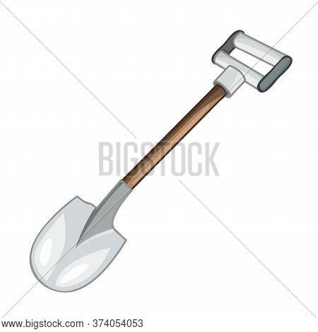 Shovel Isolated Illustration On White Background. Vector