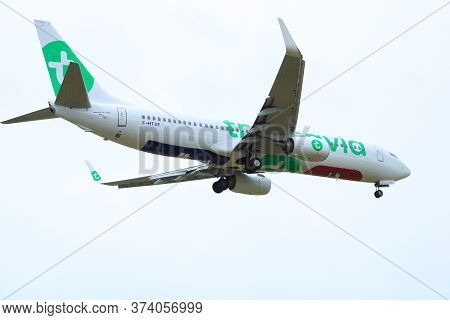 Orly, France. June 28. 2020. Landing Of An Airline Plane