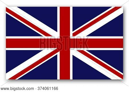 British Flag. Banner Of England. Symbol Of United Kingdom. Sign Of The Great English Kingdom. Vector