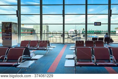 Buenos Aires, Argentina - March 23th, 2018: Boarding Gates Of The Terminal C Of The Ministro Pistari