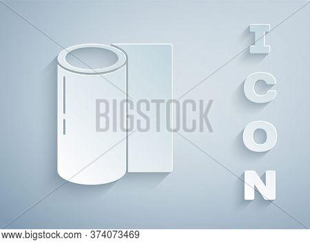 Paper Cut Fitness Mat Vector Photo Free Trial Bigstock