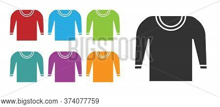 Black Sweater Icon Isolated On White Background. Pullover Icon. Set Icons Colorful. Vector Illustrat