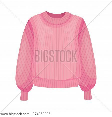 Women Sweater Or Jumper With Long Sleeves Vector Illustration
