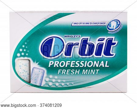Bucharest, Romania - April 4, 2016. Orbit Fresh Mint Chewing Gum Pack Isolated On White, Produced By
