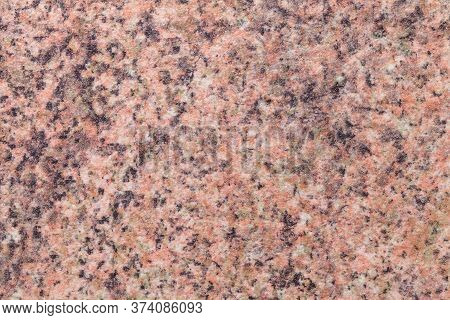 Grainy Brown Background With Pink And Black Spots. Texture Backdrop With Small Crumb Pattern For Int