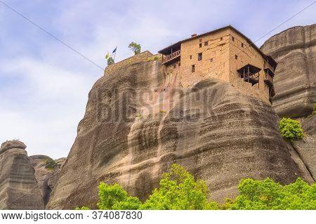 The Holy Monastery Of St. Nicholas Anapausas In Meteora, Kalambaka, Greece