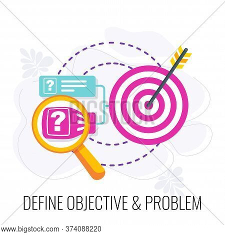 Define Objective And Problem Icon. Market Research. Research Design, Report And Presentation. Call T