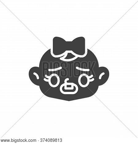 Frowning Baby Face With Open Mouth Vector Icon. Filled Flat Sign For Mobile Concept And Web Design.