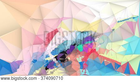 Illustration Modern Abstract Colorful Polygon Shape Background. Vector Image Of Graphic Design Geome