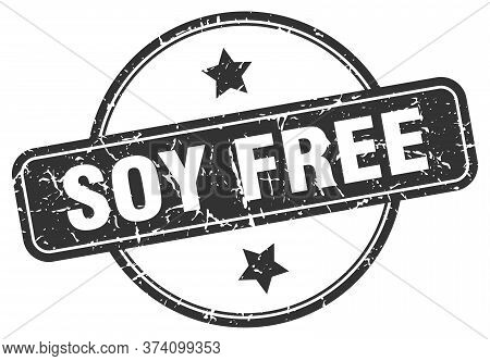 Soy Free Grunge Stamp. Soy Free Round Vintage Stamp