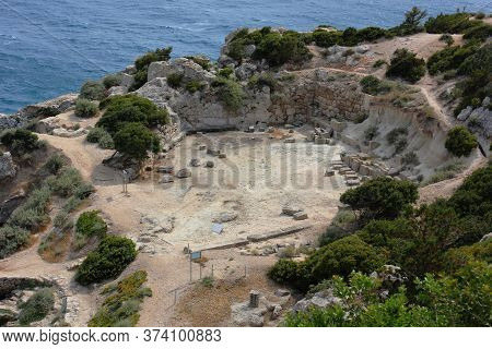 Archaeological Site Of Heraion Near Lake Vouliagmenis Loutraki Greece