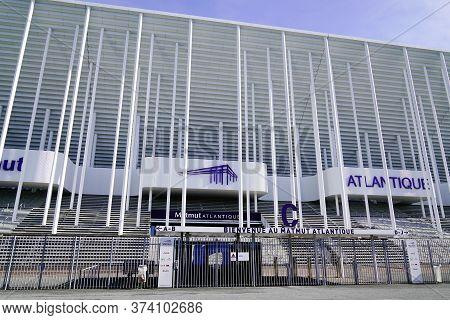 Bordeaux , Aquitaine / France - 10 25 2019 : Matmut Atlantique Stadium In Bordeaux France