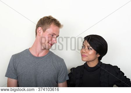 Portrait Of Young Multi Ethnic Couple Together