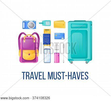 Journey Essentials Social Media Post Mockup. Travel Must Haves Phrase. Web Banner Design Template. B