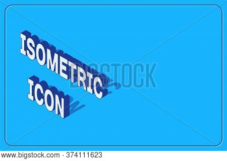 Isometric Scissors Hairdresser Icon Isolated On Blue Background. Hairdresser, Fashion Salon And Barb