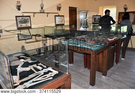 Bigalı, Çanakkale,turkey-june 24,2011-museum Of The 19th Infantry Division, Weapons And Ammunition U