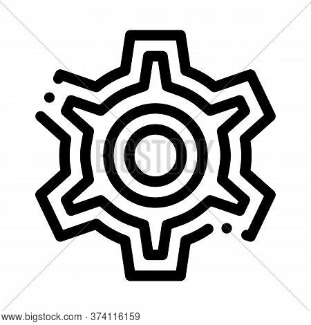 Webshop Working Icon Vector. Webshop Working Sign. Isolated Contour Symbol Illustration