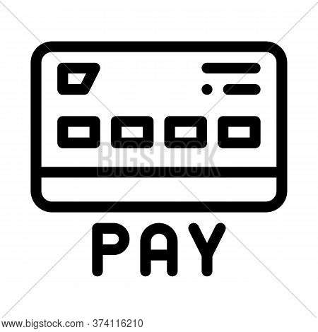 Webshop Payment Card Icon Vector. Webshop Payment Card Sign. Isolated Contour Symbol Illustration
