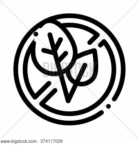 Soy Leaves Crossed Out Sign Icon Vector. Soy Leaves Crossed Out Sign Sign. Isolated Contour Symbol I