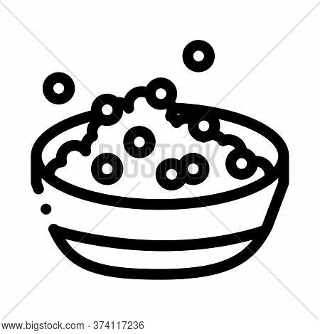 Soy Beans Dish Breakfast Icon Vector. Soy Beans Dish Breakfast Sign. Isolated Contour Symbol Illustr