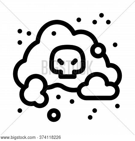 Smell Odor Smoke Icon Vector. Smell Odor Smoke Sign. Isolated Contour Symbol Illustration