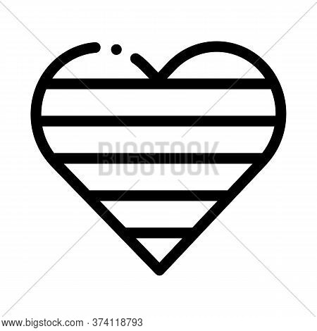 Lgbt Heart Icon Vector. Lgbt Heart Sign. Isolated Contour Symbol Illustration