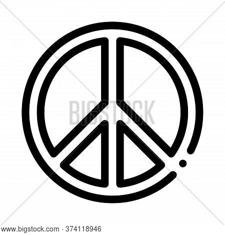 Lgbt Hippie Love Freedom Sign Icon Vector. Lgbt Hippie Love Freedom Sign Sign. Isolated Contour Symb