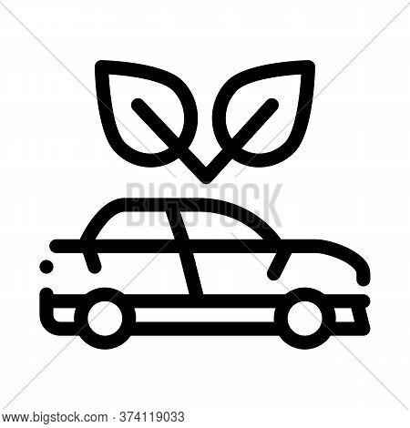 Electro Ecology Environmental Protection Car Icon Vector. Electro Ecology Environmental Protection C