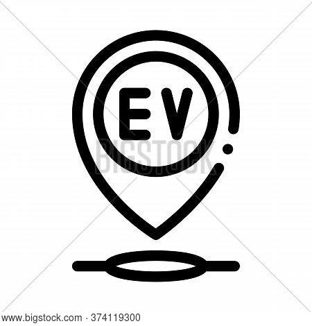 Electro Chard Station Gps Mark Icon Vector. Electro Chard Station Gps Mark Sign. Isolated Contour Sy