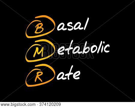 Bmr - Basal Metabolic Rate Acronym, Concept Background