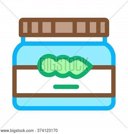Soy Beans Jar Icon Vector. Soy Beans Jar Sign. Color Symbol Illustration