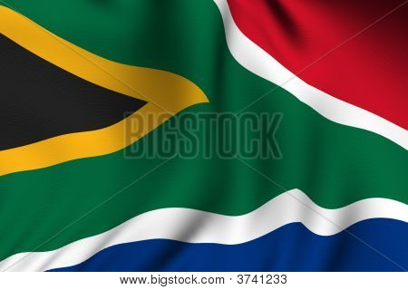Rendered South African Flag