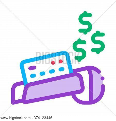 Pos Terminal Card Payment Icon Vector. Pos Terminal Card Payment Sign. Color Symbol Illustration