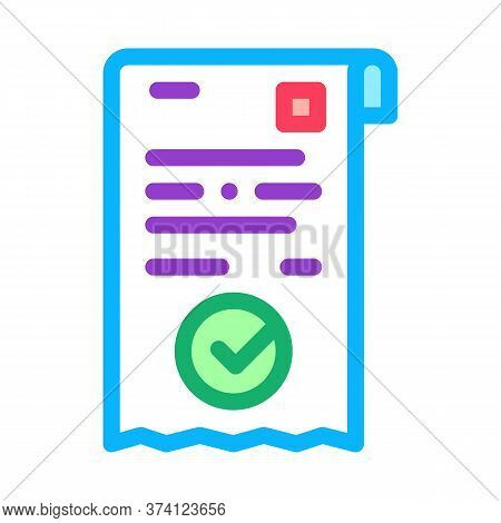 Payment Receipt Icon Vector. Payment Receipt Sign. Color Symbol Illustration