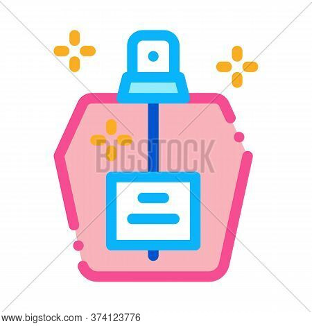 Aroma Odor Parfume Icon Vector. Aroma Odor Parfume Sign. Color Symbol Illustration