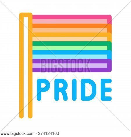 Lgbt Flag Icon Vector. Lgbt Flag Sign. Color Symbol Illustration