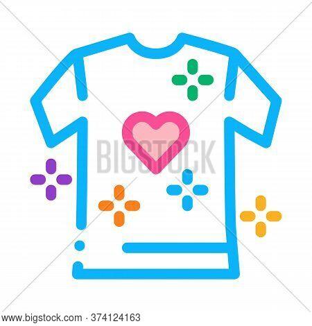 Lgbt T-shirt Icon Vector. Lgbt T-shirt Sign. Color Symbol Illustration