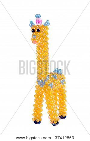 A Craft Beaded Crystal Of Giraffe