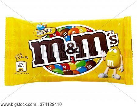 Bucharest, Romania - March 11, 2015. M&m's Chocolate Candies Isolated On White. M&m's Have Been One
